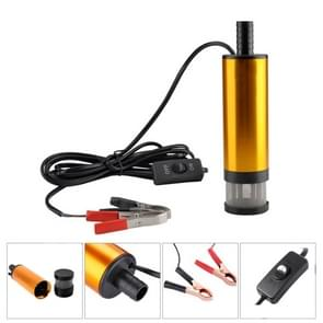 12V Car Electric Submersible Pump Diesel Fuel Water Oil Transfer Submersible Pump with On/Off Switch