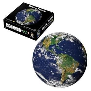 Ronde 3D Puzzel Cartoon Plane Puzzel Puzzel Speelgoed 1000 PCS (Aarde)