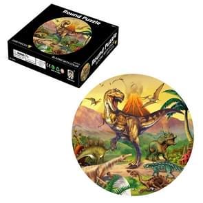 Ronde 3D Puzzel Cartoon Plane Puzzel Puzzel Speelgoed 1000 PCS (Dinosaurus)