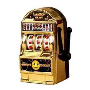 10PCS Vintage Mini Small Slot Machine Lucky Toy for Kid Children(Gold)