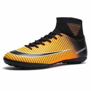 Hoge Top antislip-Wearable en comfortabele Football laarzen Soccer schoenplaatjes voor mannen, schoen grootte: 10.5(TF Black Yellow)