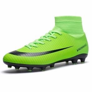 Hoge Top antislip-Wearable en comfortabele Football laarzen Soccer schoenplaatjes voor mannen, schoen grootte: 7(Long Spikes Green)