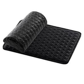Nail Leather Pad Hand Manicure Pillow + Mat(Black)