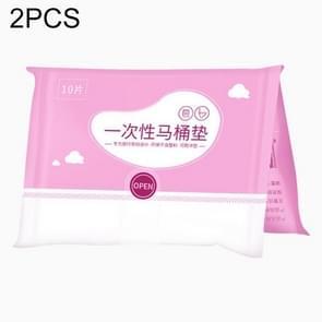2 PCS Disposable Antibacterial Dissolved Water Maternal Toilet Seat