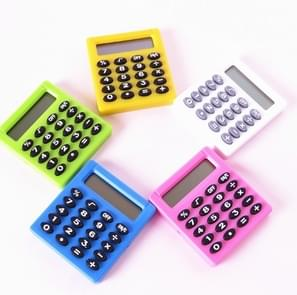 Pocket Cartoon Mini Calculator Candy Colors Handheld Coin Batteries Calculation Tool(Color Radom Delivery)