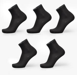 3 paren van bamboe Fiber mannen Double naald Dark bloem klein vierkant sectie Business buis sokken (blauw grijs)