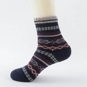 10 Pairs Autumn and Winter Men's Thick Rabbit Wool National Wind Square Tube Socks(1-1)