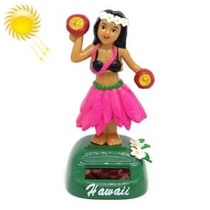 Solar Powered Dancing Hula Girl Swinging Bobble Toy Gift for Car Decoration