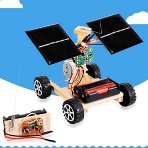 DIY Mini Wooden Car Wireless Remote Control Vehicle Model Kids Toys