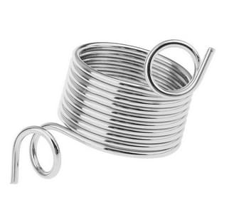 2 PCS Sweater Pullover Finger Guide Coil Stainless Steel Conductor Hand Knitting Tool, Size:17mm(Silver)