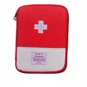 5 PCS Function Portable First Aid Kit Travel Emergency Drug Cotton Fabric Medicine Bag Pill Case Splitters Box(Red)
