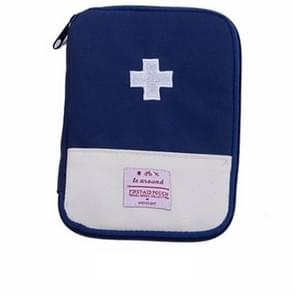5 PCS Function Portable First Aid Kit Travel Emergency Drug Cotton Fabric Medicine Bag Pill Case Splitters Box(Blue)