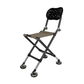 Outdoor Fishing Folding Chair Stool Foldable Portable(Black)