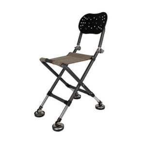 Buiten vissen opvouwbare stoel krukje opvouwbaar Portable(Black)