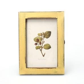 6 inch Home Decor Retro Wooden Picture Photo Frames Ornament(Yellow)