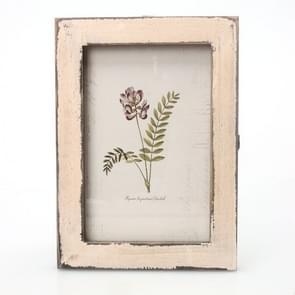 6 inch Home Decor Retro Wooden Picture Photo Frames Ornament(White)