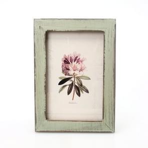 6 inch Home Decor Retro Wooden Picture Photo Frames Ornament(Green)