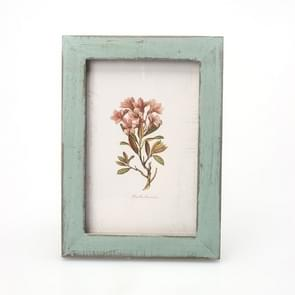 6 inch Home Decor Retro Wooden Picture Photo Frames Ornament(Blue)