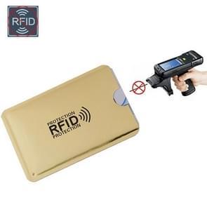 5 PCS Anti RFID Wallet Blocking Reader Lock Bank Card Case Protection Metal Credit Card Holder(Gold)