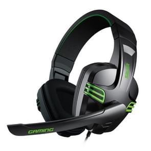 Salar KX101 3 5 mm bedrade oortelefoon gaming headset PC Gamer stereo hoofdtelefoon met microfoon voor computer (zwart)