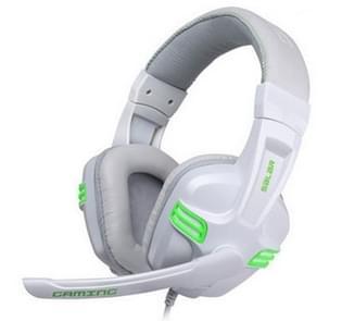 Salar KX101 3.5 mm Wired oortelefoon gaming headset PC Gamer stereo hoofdtelefoon met microfoon voor computer (wit)