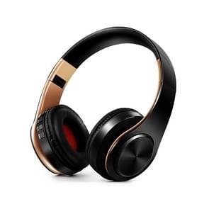 HIFI stereo draadloze Bluetooth hoofdtelefoon voor Xiaomi iPhone Sumsamg Tablet  met mic  ondersteuning SD-kaart & FM (goud zwart)