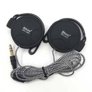 Shini Q940 3.5 mm Super Bass EarHook oortelefoon voor MP3-speler computer mobiel (zwart geen MIC)