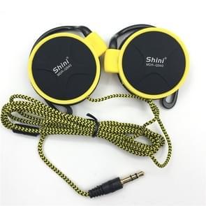 Shini Q940 3.5 mm Super Bass EarHook oortelefoon voor MP3-speler computer mobiel (geel geen MIC)