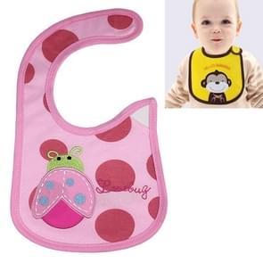 3 PCS Baby Bibs Cute Cartoon Pattern Toddler Baby Waterproof Saliva Towel Cotton Fit 0-3 Years Old  Infant Burp Cloths(Pink ladybug)