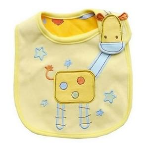 3 PCS Baby Bibs Cute Cartoon Pattern Toddler Baby Waterproof Saliva Towel Cotton Fit 0-3 Years Old  Infant Burp Cloths(Yellow giraffe)