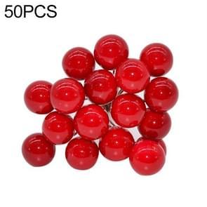 50 PCS Mini Foam Peony Fruit Artificial Flowers Fruit Decoration(red)