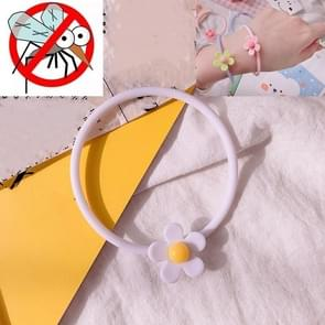 10 PCS Flower Mosquito Insectenwerend middel Outdoor Travel Anti-mug Armband (Wit)