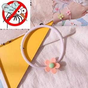 10 PCS Flower Mosquito Insectenwerend middel Outdoor Travel Anti-mug Armband (Oranje)