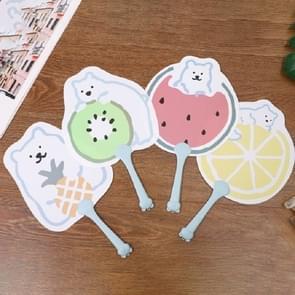 10 PCS Cartoon Fruit Summer Hand Fan PP Plastic Fan  Size:17.5x30.5 cm(Random Color Delivery)