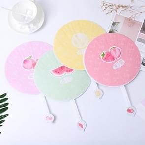 10 PCS Cartoon Circular Home Group Fan Out Portable Hand Fan  Random Color Delivery (Summer Fruit Party)