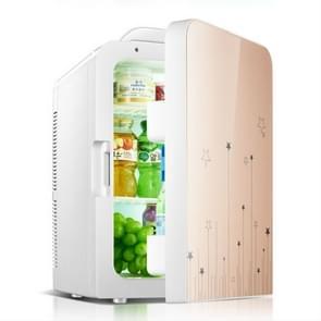 20L Auto home verwarming en koeling kleine koelkast  specificatie: CN Plug  Style: Single-core (Goud)