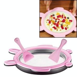 Cartoon Mini Ice Cream Maker Fried Yoghurt Machine (Roze)