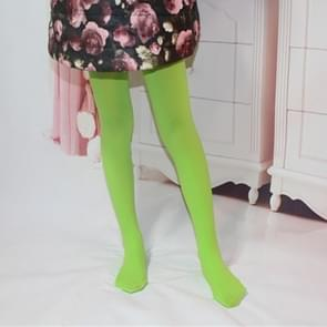 Spring Summer Autumn Solid Color Pantyhose Ballet Dance Tights for Kids, Size:M(Grass Green)