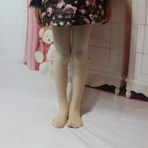 Spring Summer Autumn Solid Color Pantyhose Ballet Dance Tights for Kids, Size:L(Flesh Color)