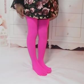 Lente zomer herfst effen kleur panty ballet dans Panty's voor kinderen (Rose rood)