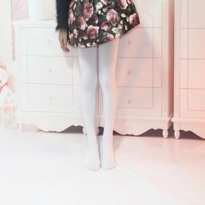 Lente zomer herfst effen kleur panty Ballet dans panty voor kinderen  Size:XXL(White)