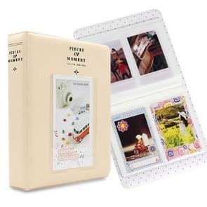 64 Pockets Name Card Pieces for Fujifilm Instax Mini 8 /7s /70 /25 /50s /90(Beige)