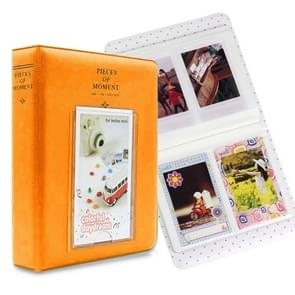 64 Pockets Name Card Pieces for Fujifilm Instax Mini 8 /7s /70 /25 /50s /90(Orange)
