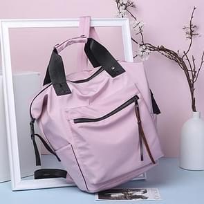 Eenvoudige waterdichte hand-held multi-functionele schouder rugzak (roze)