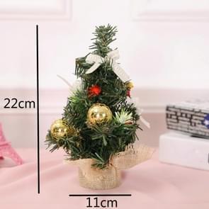 5 PCS kerstversiering kerstversiering kerstboom mini decoratie kerstboom (Gouden)