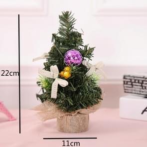 5 PCS kerstversiering kerstversiering kerstboom mini decoratie kerstboom (paars)