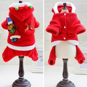 Huisdier Santa Dress Up Warme Small & Medium Dog Kleding  Maat: S