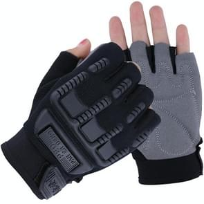 Kids Tactical Fingerless Gloves Anti-Skid Rubber Half Finger Children Gloves, Size:S(Black)