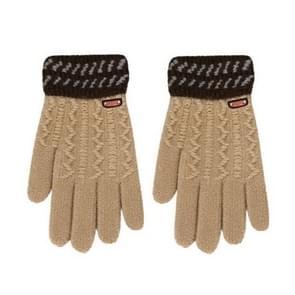 Winter handschoenen kinderen klassieke meisjes jongens winter warme handschoenen (beige)