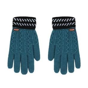 Winter handschoenen kinderen klassieke meisjes jongens winter warme handschoenen (blauw)